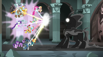Mane Six and Pillars focusing their element power S7E26