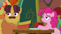 Pinkie and Coriander hear Rarity return S6E12
