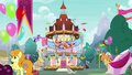 Ponyville decorated for Flame of Friendship party S7E15.png