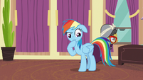 Rainbow Dash --there is a pony downstairs-- S6E13