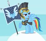 Rainbow Dash como Comandante Hurricane T2E11
