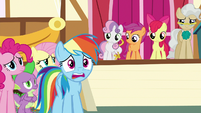 "Rainbow Dash distressed ""no way!"" S9E12"