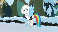 Rainbow Dash dressed as Storm Shadow MLPBGE