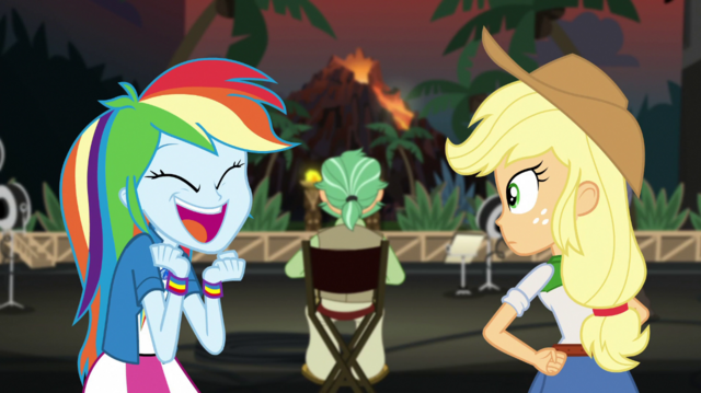 "File:Rainbow Dash shouting ""they were amazing!"" EGS2.png"