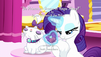 Rarity combing Opalescence's tail S5E13