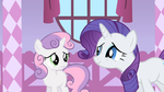 Rarity trying to appeal Sweetie Belle S1E17