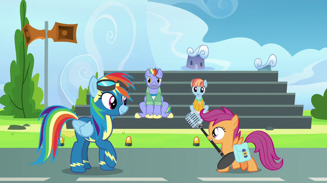 File:Scootaloo brings Rainbow Dash a microphone S7E7.png
