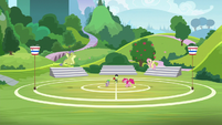 Spike and friends on buckball field S8E24