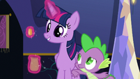 Spike nudging Twilight Sparkle S6E15