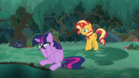 Sunset trying to calm Sci-Twi down EGSB