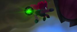 Tempest Shadow hurling a dark ball of energy MLPTM