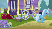 Trixie carrying bucket of magic wands S8E19