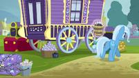 Trixie carrying bucket of magic wands S8E19