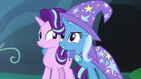 Trixie confident with a hoof around Starlight S7E17