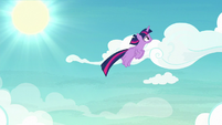 Twilight Sparkle following Rainbow S8E20