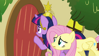 Twilight and Fluttershy worried about Rainbow Dash S03E13