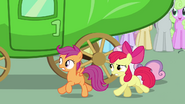 Apple Bloom asking Pinkie seriously to let CMC in S3E4