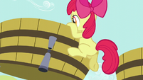 Apple Bloom climbs into grape trough S5E17