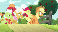 Apple Bloom jumping and cheering S9E10