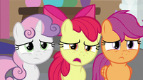 Apple Bloom nervously confused -like what-- S8E12