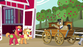 Applejack and Big Mac wave goodbye to Filthy Rich S6E23.png