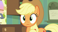 Applejack hears something outside S9E10