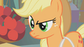 Applejack looks down at Apple Bloom S1E12.png