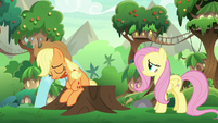 Applejack sitting down in defeat S8E23