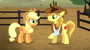 Applejack talks to Braeburn S5E6