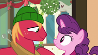Big Mac and Sugar Belle under the mistletoe MLPBGE