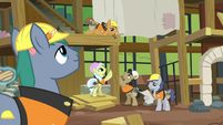 Construction pony building an animal hospital S7E5