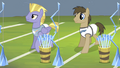 Dr. Hooves and unnamed archer taking positions S4E24.png