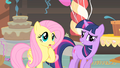 Fluttershy and Twilight having a conversation S1E22.png