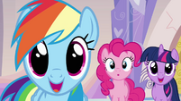 Ponies reacting to Ms. Harshwhinny's announcement S03E12