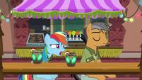 Rainbow Dash asking Quibble why S6E13