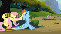 Rainbow Dash roars like a timberwolf S03E09