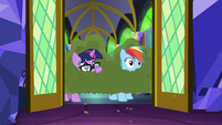 Sci-Twi and Rainbow wearing bush disguise EGSB