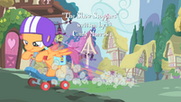 Scootaloo speeding by on her scooter S01E18