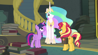 Sunset thanking Twilight and Celestia EGFF
