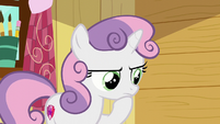Sweetie Belle thinking about it S6E4