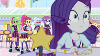 The Shadowbolts appear behind Rarity EGS1
