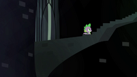 A hidden stairway in the Castle of the Royal Pony Sisters, S4E22