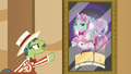 Barker pony promoting trained animal act S6E20.png