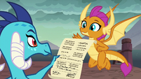 Ember gives permission slip to Smolder S9E3