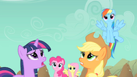 Main ponies worried about Rarity S01E19