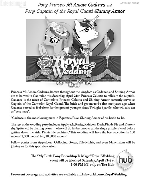 New York Times Royal Wedding ad April 2012