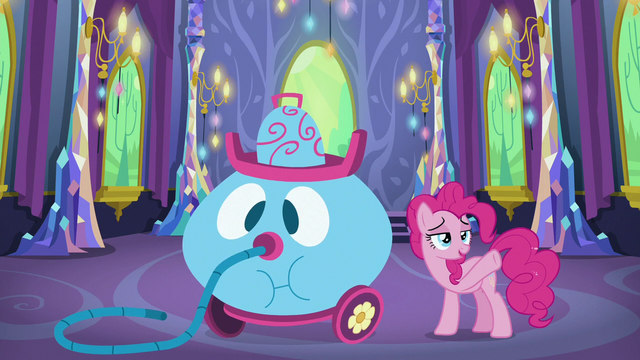 """File:Pinkie Pie """"exhausted"""" after cleaning up S7E1.png"""
