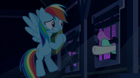 Ponies' hooves smash through the window S6E15