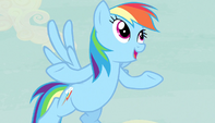 Rainbow Dash -Fighting a horrific monster- S5E1