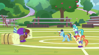 Rainbow Dash teaching Yona timing S9E15